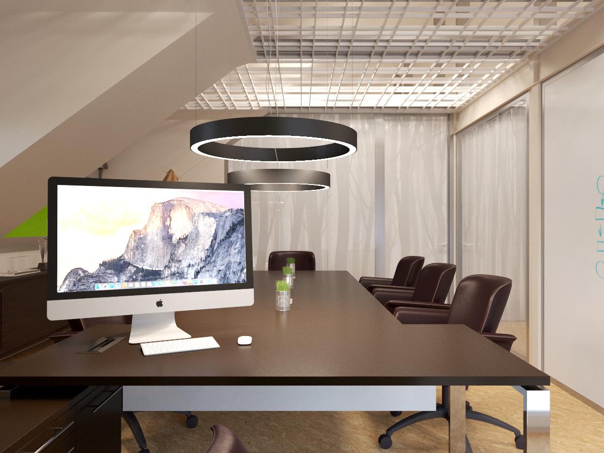 кабинет руководителя в эко-офисе