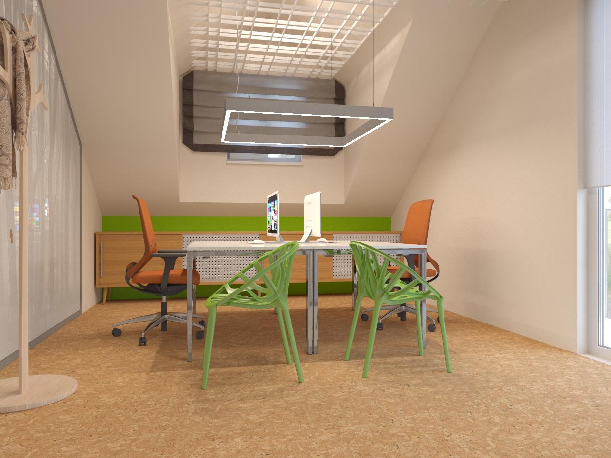 кабинет в эко стиле, эко-офис