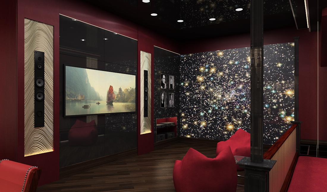 домашний кинотетр, звездное небо, встроенные колонки