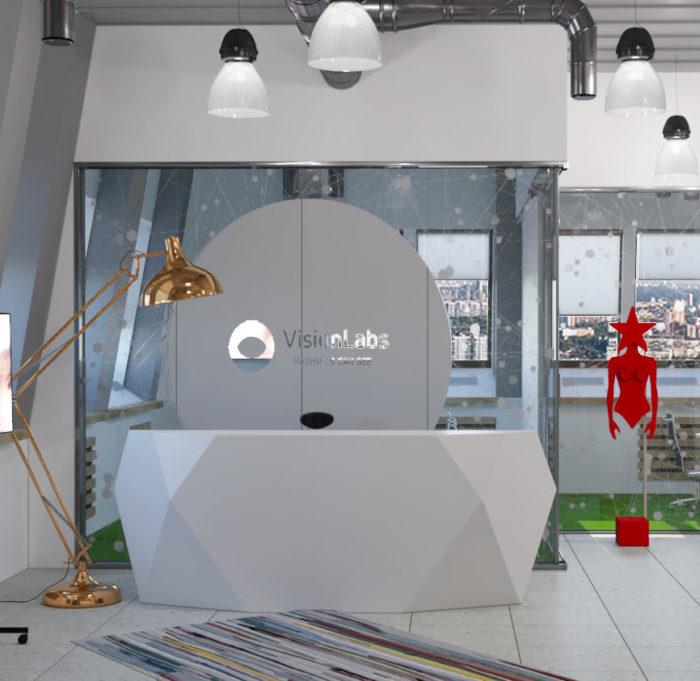 зона ресепшен, reception, офис IT-компании