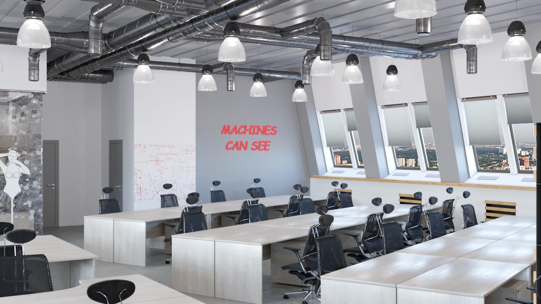 офис open spase, открытый современный офис