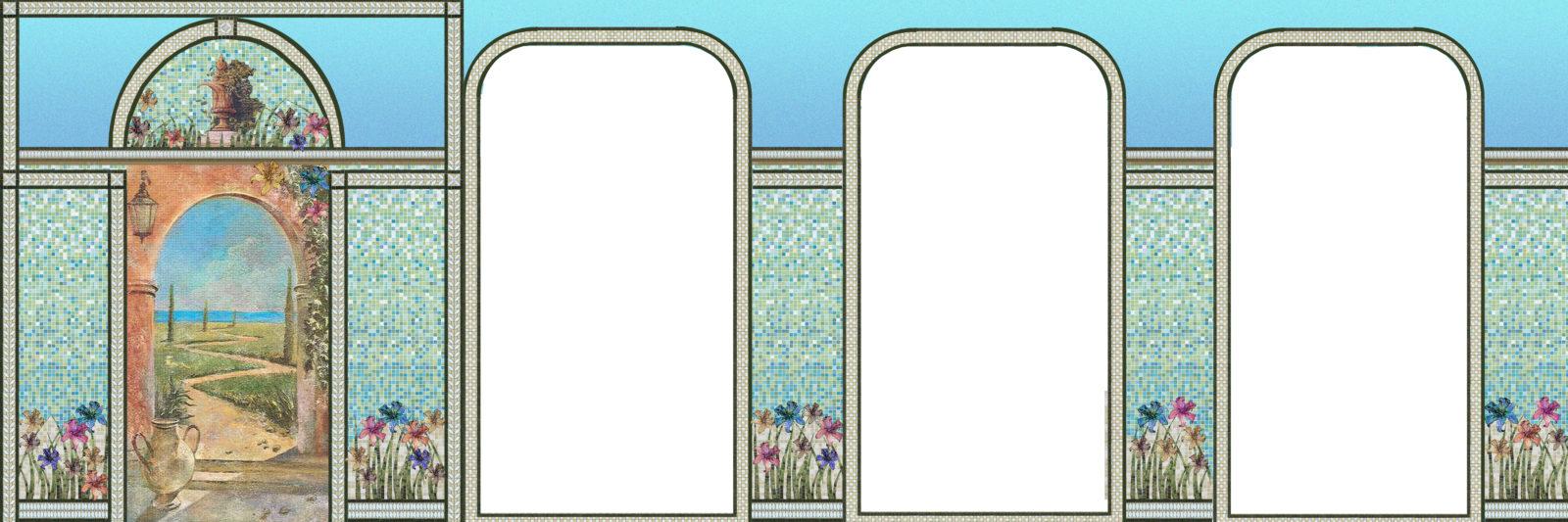 раскладка мозаичного панно