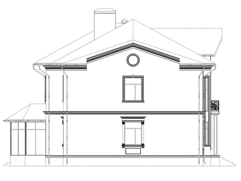 чертеж фасада дома