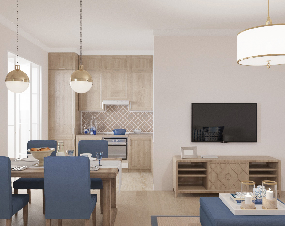 кухня-гостиная, k-studio