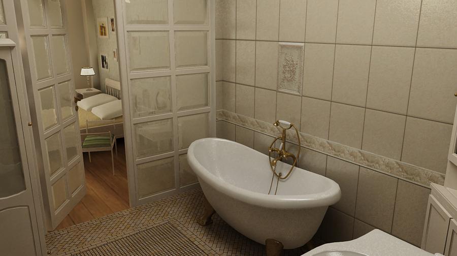 ванна на ножках,классическая ванная