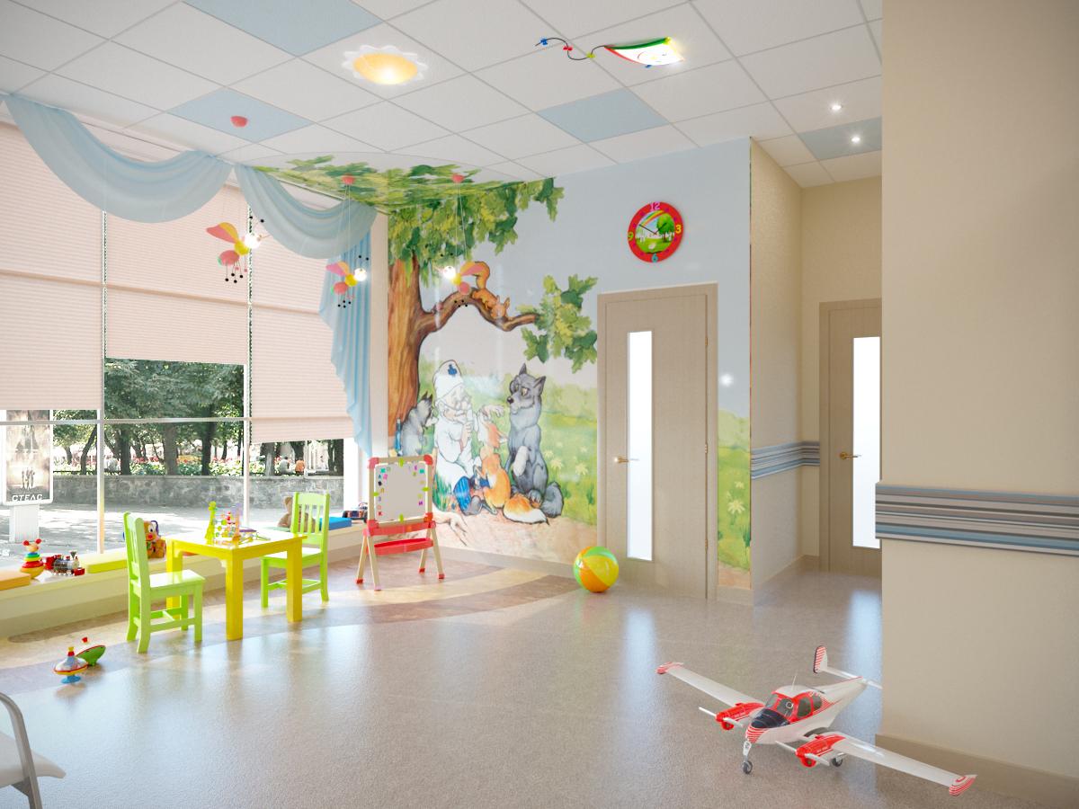 детский уголок в медицинском центре