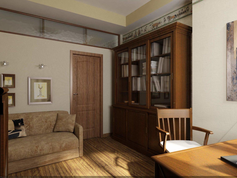 библиотека в кабинете