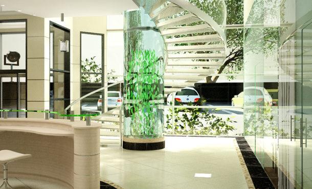 аквариум -столб