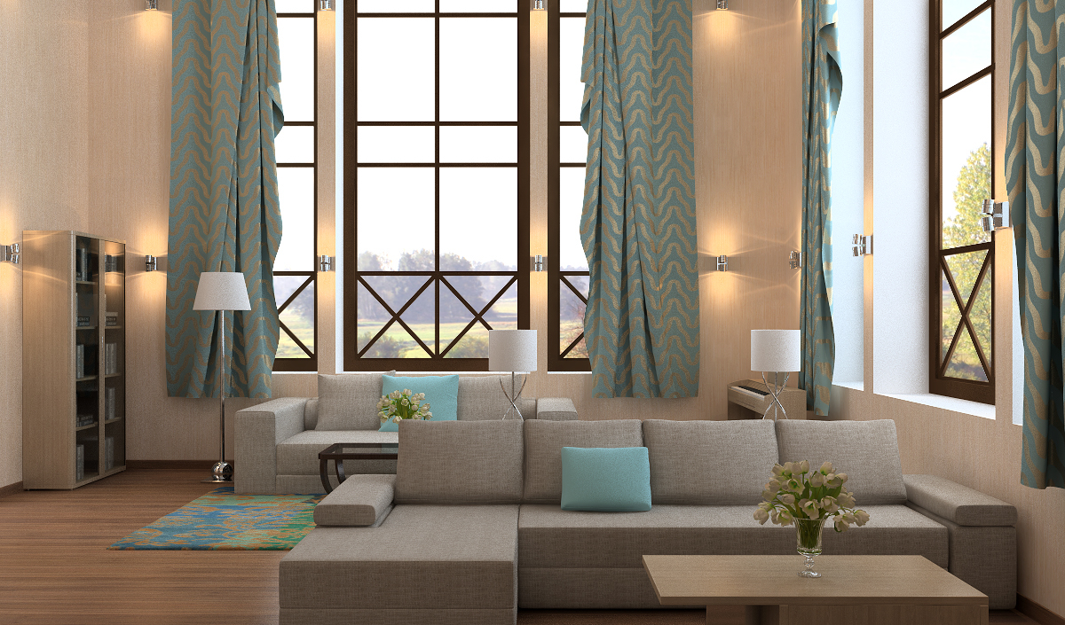 гостиная в современном стиле