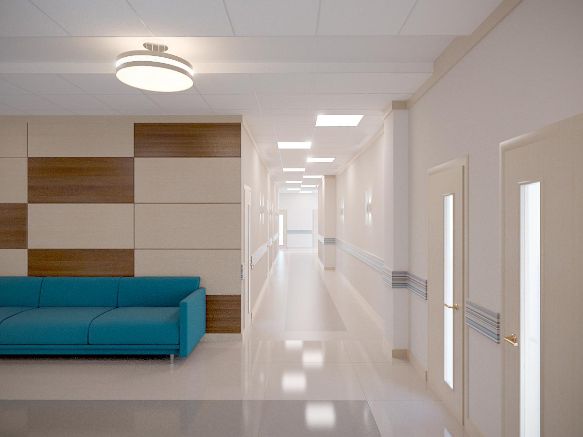 коридор в медицинском центре