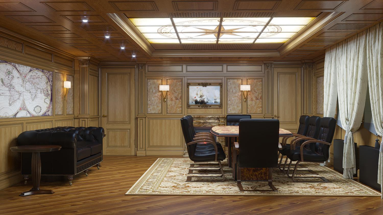 переговорная комната в классическом стиле