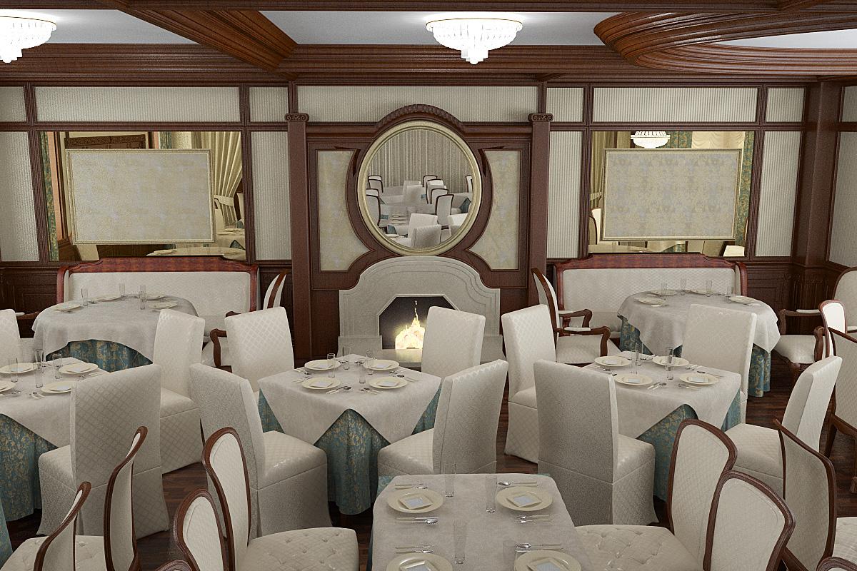классический интерьер ресторана