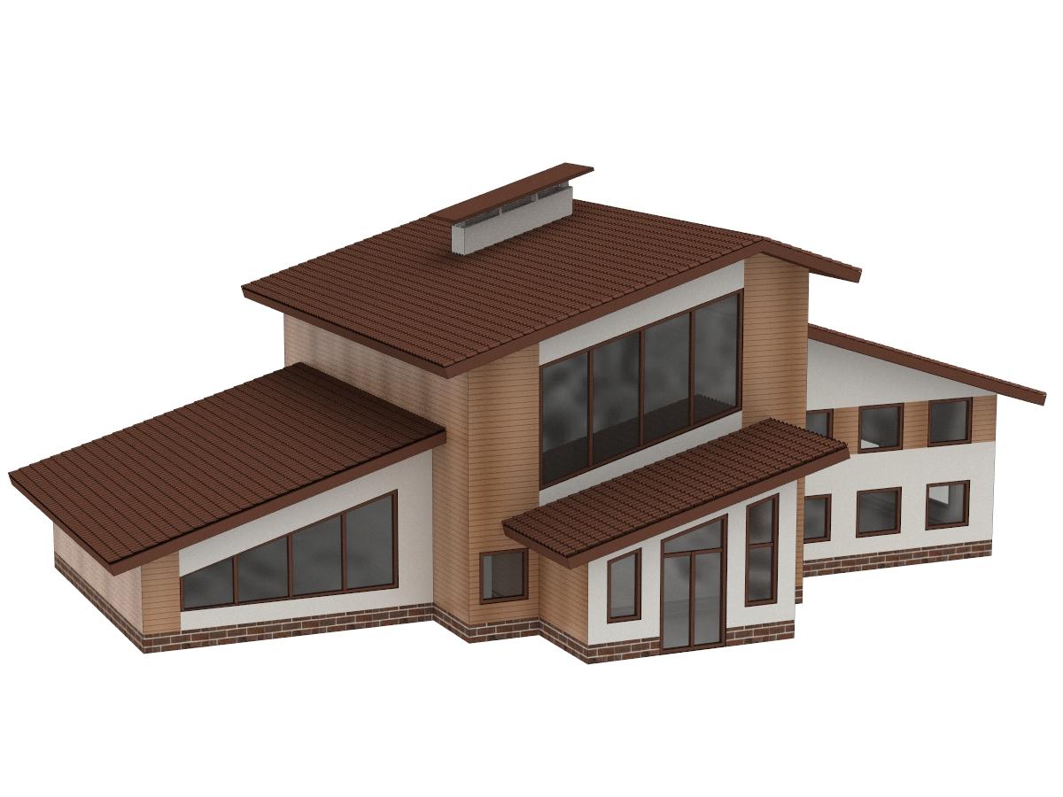 частный дом эскизный проект
