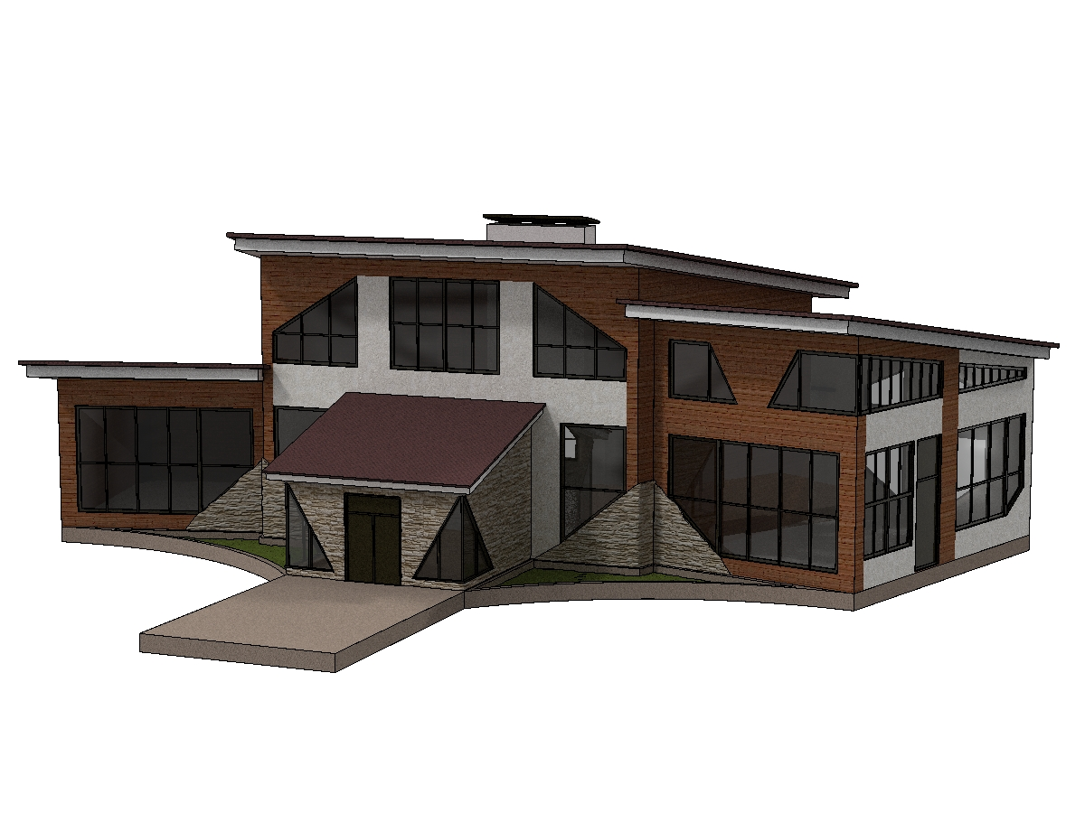 современный дом Эскизный проект