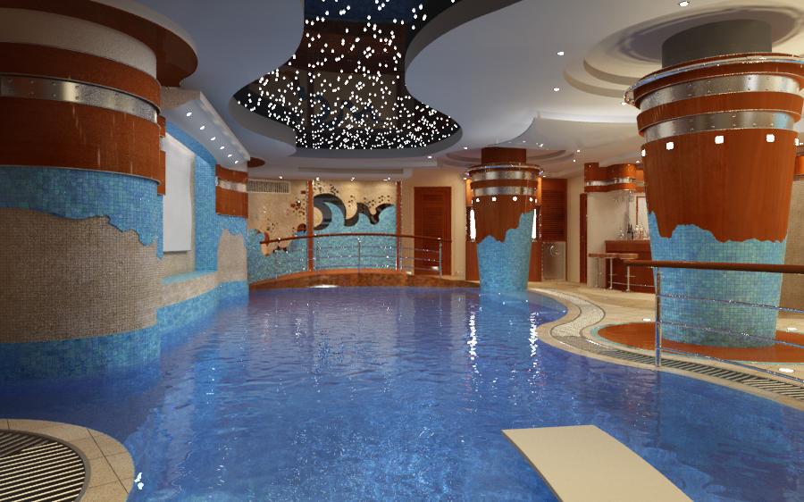 дизайн сауны, бассейн