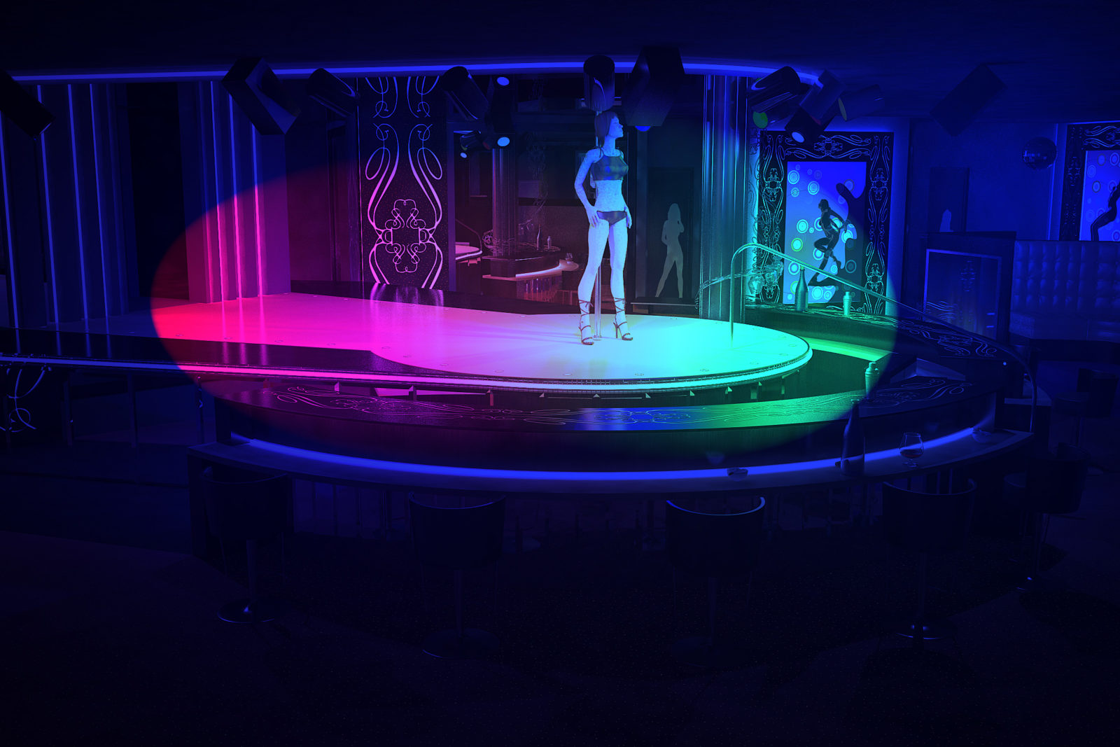 дизайн стриптиз-клуба