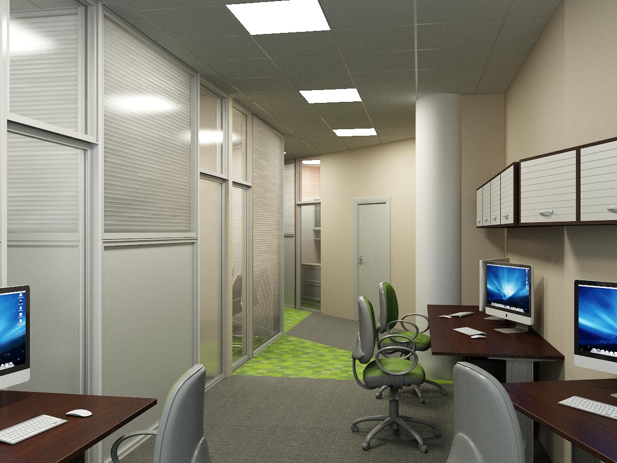 цветной ковролин в офисе