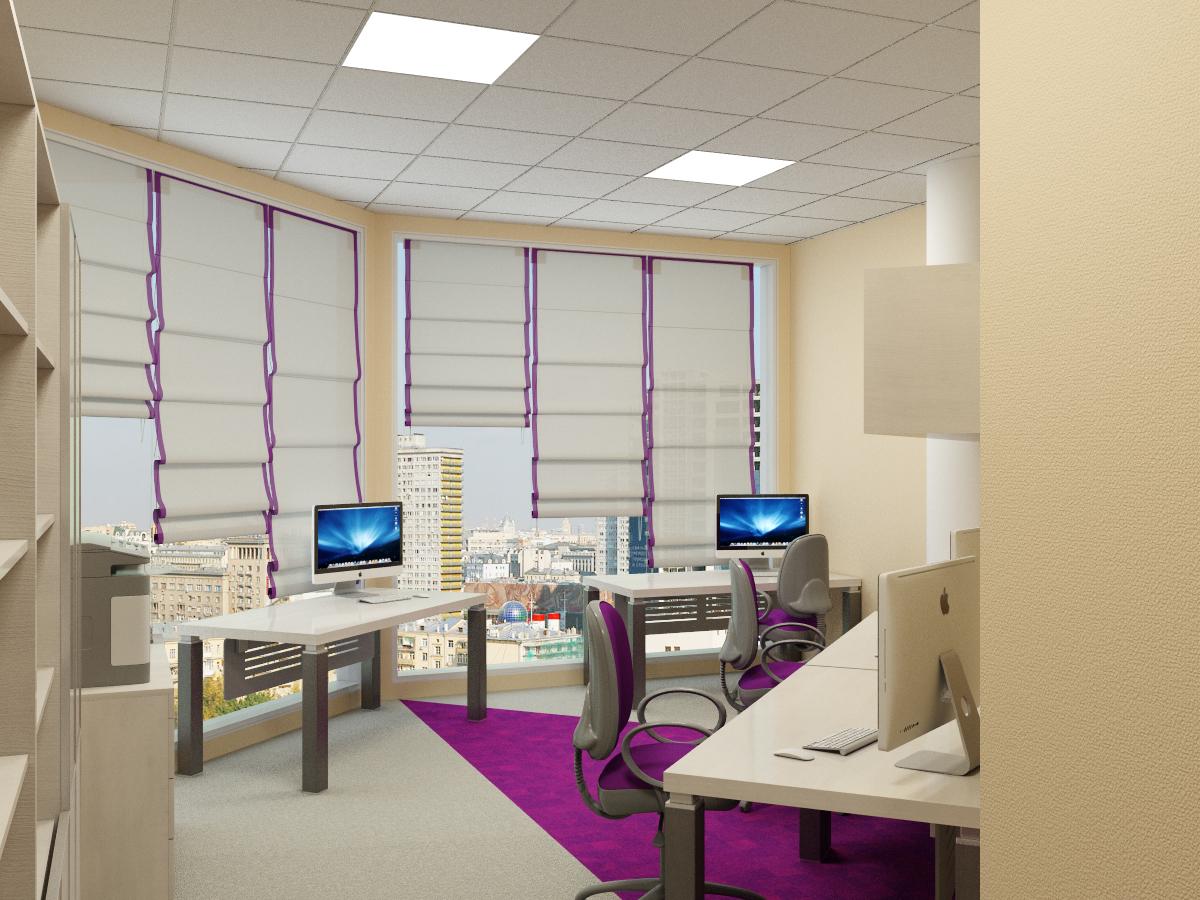 офис с панорамными окнами, k-studio